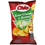 Potato chips Chio Chips with sour cream and onion taste 150g Hungary