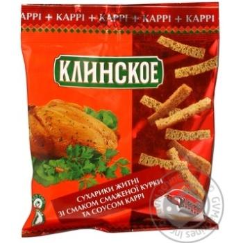 Сухарики Клінскіє житня зі смаком курки 60г