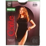 Tights Conte Prestige mocha polyamide for women 20den 2size