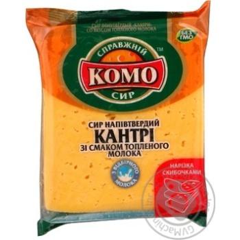 Сыр Комо Кантри полутвердый со вкусом топленого молока нарезанный ломтиками 50% 270г Украина