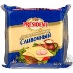 Сыр Президент Мастер бутерброда плавленый сливочный 40% 300г Россия