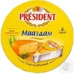 Сыр Президент Маасдам плавленый 8 сырков 45% 140г Россия