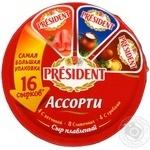 Сыр Президент Ассорти плавленый 45% 280г Россия