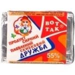 Продукт сырный Вот Так Дружба плавленый ломтевой 55% 100г Украина