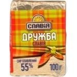 Сир Славія Дружба плавлений 55% 100г Україна
