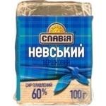 Processed cheese Slaviya Nevskiy 60% 100g Ukraine