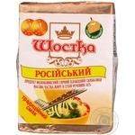 Продукт сырный Шостка Российский плавленый молокосодержащий ломтевой 45% 100г Украина