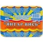 Сыр Янтар-Высь плавленый сливочный 60% 100г пластиковый стакан Украина