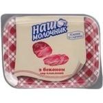 Сыр Наш Молочник плавленый с беконом пастообразный 60% 180г ванночка Украина