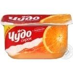 Творожок взбитый Чудо апельсин двухслойный 4.2% 115г пластиковый стакан Украина