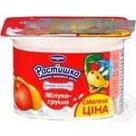 Yogurt product Danone Rastishka peach enriched with calcium with iodine 3% 115g
