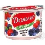 Йогурт Дольче лесная ягода 3.2% пластиковый стакан 120г Украина