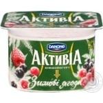 Йогурт Активіа зимові ягоди 115г