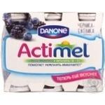 Кисломолочный продукт Данон Актимель черника-ежевика обогащенный эль казей имунитасс и витаминами B6 и D3 1.5% 6х100г пластиковая бутылка Россия