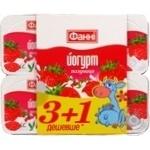 Йогурт Фанни вишня 1.5% 4х120г пластиковый стакан Украина