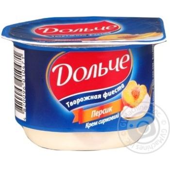 Cottage cheese President peach 4% 100g Ukraine