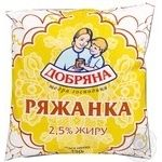 Ряжанка Добряна 2.5% 450г