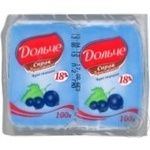 Cottage cheese Dolce currant 18% 200g Ukraine