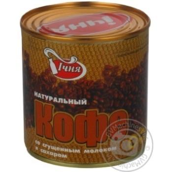 Кава натуральна зі згущеним молоком та цукром Ічня ГОСТ 719-85 з/б 380г