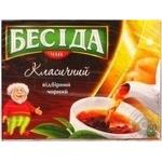 Черный чай Беседа Классический байховый в пакетиках 50х1.8г Россия