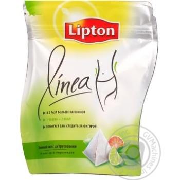 Черный чай Липтон Линеа с цитрусовыми в пакетиках 20х2.3г