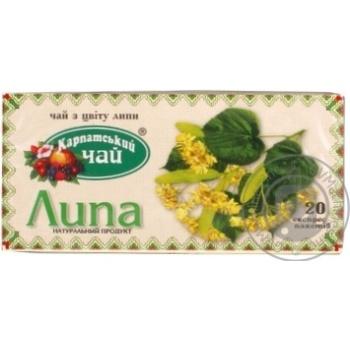 Травяной чай Карпатский Чай Липа в пакетиках 20х1.35г - купить, цены на Novus - фото 3