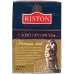 Черный чай Ристон Файнест Цейлон листовой 100г Шри-Ланка