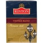 Черный чай Ристон Винтаж Бленд цейлонский байховый листовой 80г Шри-Ланка