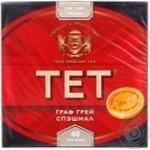 Черный чай ТЕТ Граф Грей Спешиал байховый с ароматом лимона и бергамота в пакетиках 40х2г Англия