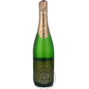 Sparkling wine muscat Azshv white semidry 12% 2009year 750ml glass bottle Ukraine