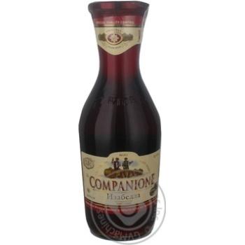 Вино червоне Ла Компаньйон Ізабелла Молдавська столове напівсолодке 11% скляна пляшка 1000мл Молдова