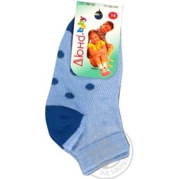 Шкарпетки блакитні Дюна 6В431 р.14