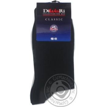Шкарпетки чоловічі DiWaRi Classic 000 чорний р.25 пара - купити, ціни на Novus - фото 7