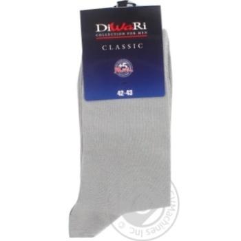 Шкарпетки чоловічі DiWaRi Classic 000 сірий р.27 пара