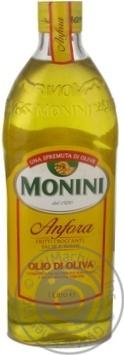 Масло Монини оливковое рафинированное первого холодного отжима 1л Италия