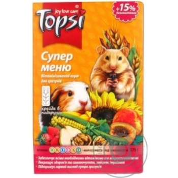 Topsi Super Menu Food for Rodents 575g - buy, prices for Novus - image 6
