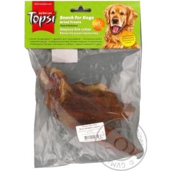 Ухо говяжье сушеное Topsi для собак 60г - купить, цены на Novus - фото 2