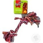 Игрушка Topsi Веревка хлопок цветная для собак 26см