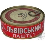 Pate Galytsky smak meat 250g can Ukraine