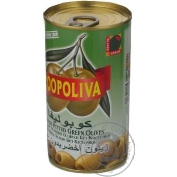 Оливки Коополіва зелені без кісточки 370мл Іспанія - купити, ціни на Novus - фото 7