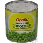 Овощи горох Свято зеленый консервированная 430г железная банка