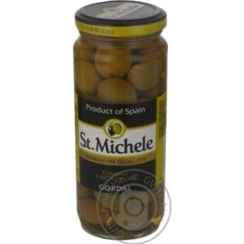 olive St.michele green with bone 340g glass jar Spain