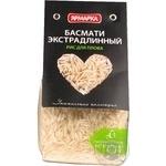 Крупа рис басмати Ярмарка длиннозернистый шлифованный 350г Россия