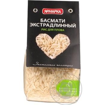 Крупа рис басматі Ярмарка довгозернистий шліфований 350г Росія