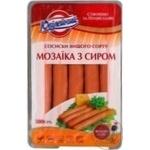 Сосиска Юбилейный Мозаика с сыром 500г Украина