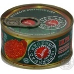 Caviar Ikornyi standart salmon red grain-growing 130g can Ukraine