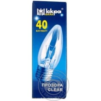 Лампа накаливания Искра свечка прозрачная Е27 40Вт - купить, цены на Novus - фото 4