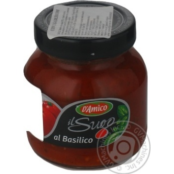 Соус D'amico томатний с базиліком 300г Італія