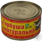Fish pink salmon canned 230g can Ukraine