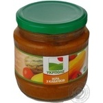 Vegetables Ukrpole squash canned 440g glass jar
